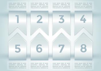 Bullet Points Infographics Elements Vector 2 - Kostenloses vector #370019