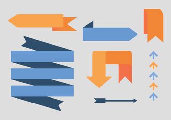 Set de Flechas Azules y Naranjas - Free vector #370089
