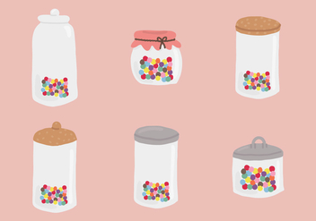 Jar Smarties Vectors - бесплатный vector #370209