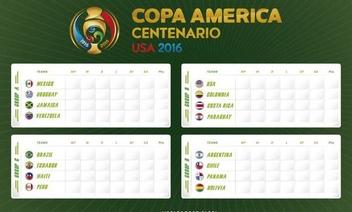 Copa America 2016 fixture - Free vector #370229