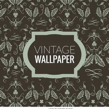 Floral vintage wallpaper - Free vector #370239