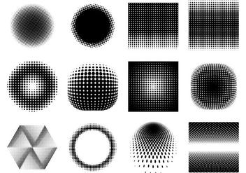 Free Halftone Gradient Vectors - Free vector #370349