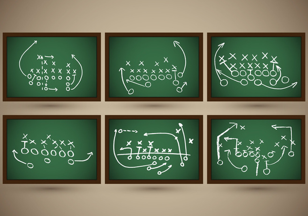 Playbook Football Slate Strategy Vector - vector gratuit(e) #370419