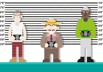 Mugshot Background Characters Police Vector - Free vector #370449