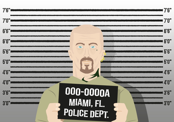 Mugshot Background Character Police Vector - Kostenloses vector #370459