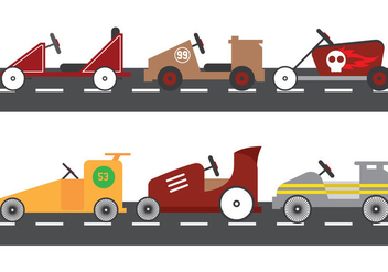 Soap Box Race Vector - Free vector #370529