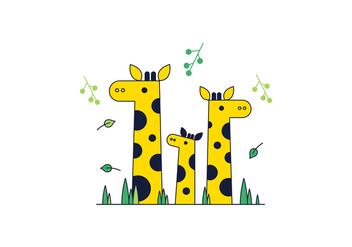 Free Giraffe Vector - Free vector #370769