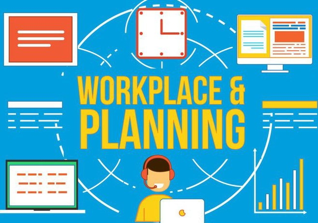 Free Workplace and Planning Vetor - бесплатный vector #370839
