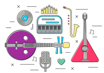 Free Vector Musical Instruments - Free vector #370919