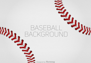 Vector Baseball Laces Background For Design - Kostenloses vector #370939