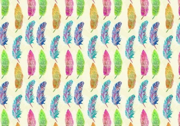 Free Vector Watercolor Bohemian Feather Pattern - бесплатный vector #371009
