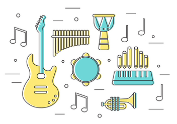 Free Vector Musical Instruments - Free vector #371049