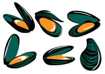 Mussel Vector - Free vector #371179