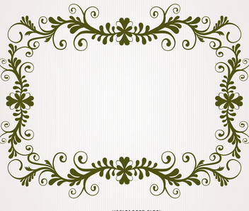Antique floral swirl frame - Free vector #371219