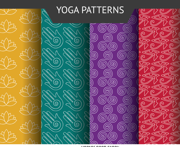 Yoga icon pattern set - бесплатный vector #371449