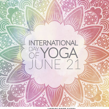 International Day of Yoga mandala - Free vector #371459