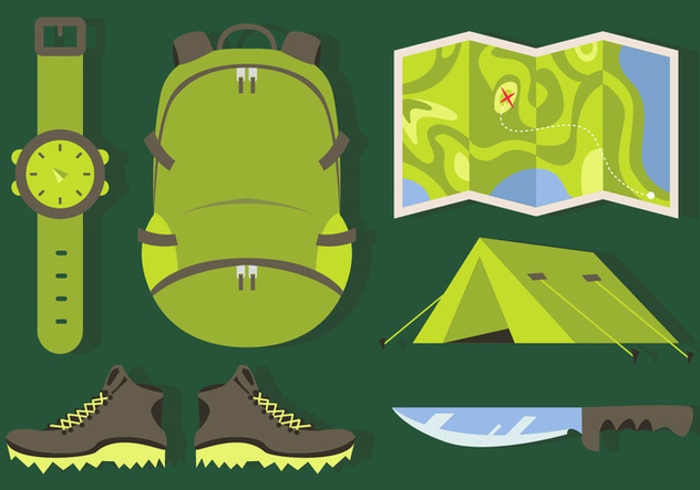 Mountaineer Elements Illustrations Vector - бесплатный vector #371519