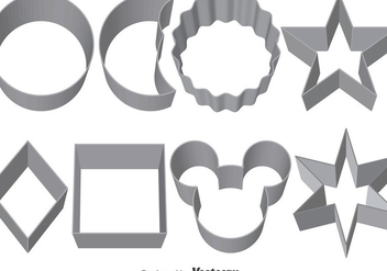 Set Of Vector Cookie Cutters - vector gratuit #371779