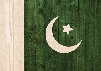 Free Vector Flag Of Pakistan Painted On Wooden Background - Free vector #371829