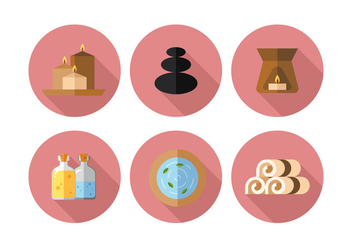 Vector Spa Icon Set - Free vector #371849