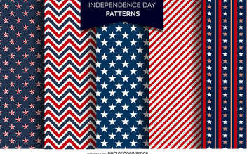US Independence Day patterns - vector gratuit #371979