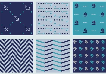 Free Marine Vector Patterns 4 - vector gratuit #372089