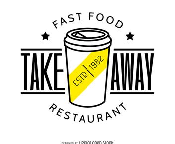 Take away food logo - vector gratuit #372279