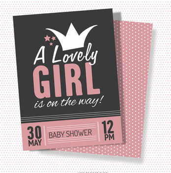 Lovely baby shower card - vector #372289 gratis