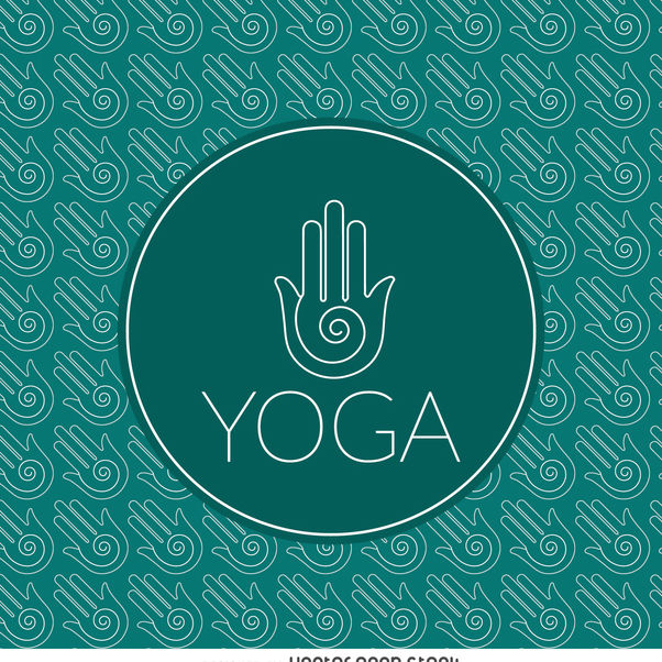 Yoga sign outline pattern - Free vector #372309