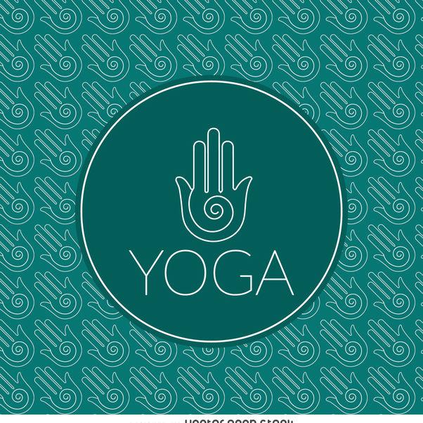Yoga sign outline pattern - vector gratuit #372309