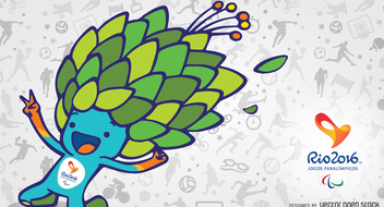 Rio 2016 mascot Tom banner - Free vector #372509