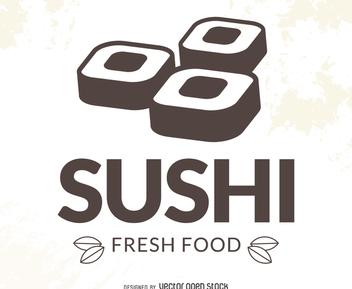 Modern sushi logo - vector gratuit(e) #372519