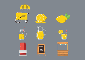 Free Lemonade Stand Vector - Free vector #372929