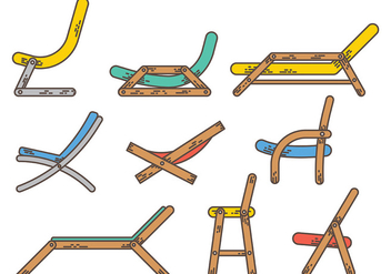 Free Deck Chair Icons Vector - Free vector #372939