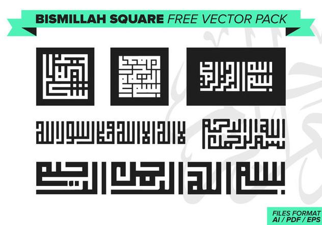Bismillah Square Free Vector Pack - Free vector #373159