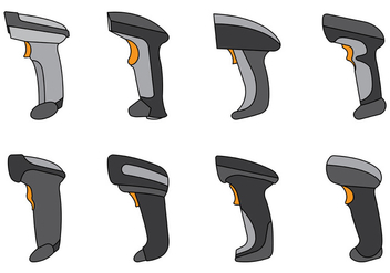 Set Of Barcode Scanner Vector - Free vector #373249