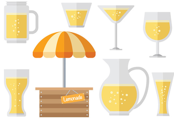 Free Lemonade stand icons Vector - Free vector #373269