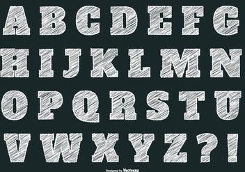 Chalk Style Alphabet - Free vector #373289