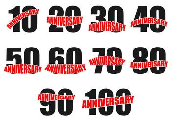 Free Anniversary Icon Vector - vector gratuit(e) #373409