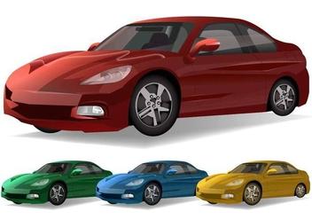 Sports Car Vectors - vector #373429 gratis