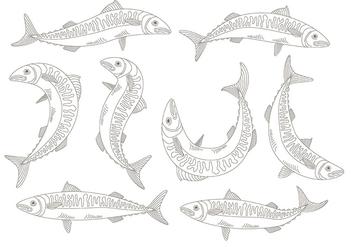 Mackerel icons - vector #373589 gratis