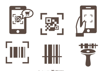 Barcode Scanner Icons Vector - бесплатный vector #373639