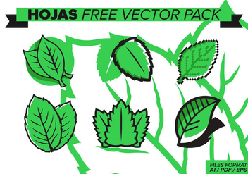 Hojas Free Vector Pack - Free vector #373659