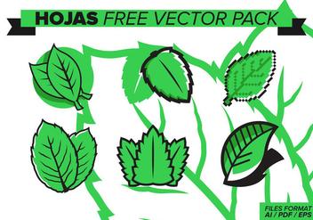 Hojas Free Vector Pack - Kostenloses vector #373659