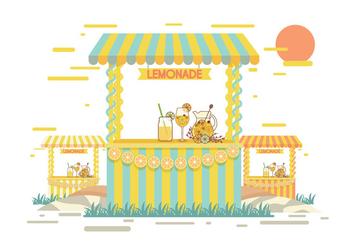 Lemonade Stand Vector - Free vector #373669