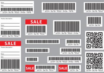 Editable Barcodes - vector gratuit #373779