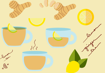 Ginger Tea Vector Set - бесплатный vector #373809