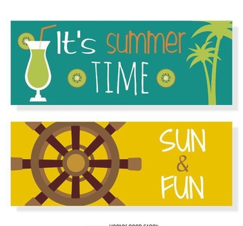 Summer vector set - Free vector #373999