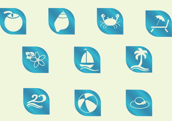 Icons Beach - vector gratuit #374089