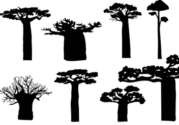 Free Baobab Silhouete Vector - Free vector #374199